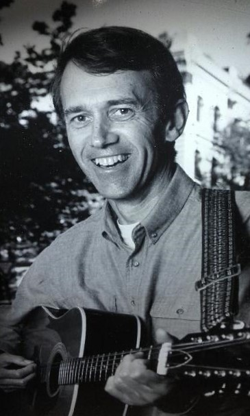 David Mills with his guitar. Image provided by Jane Mills