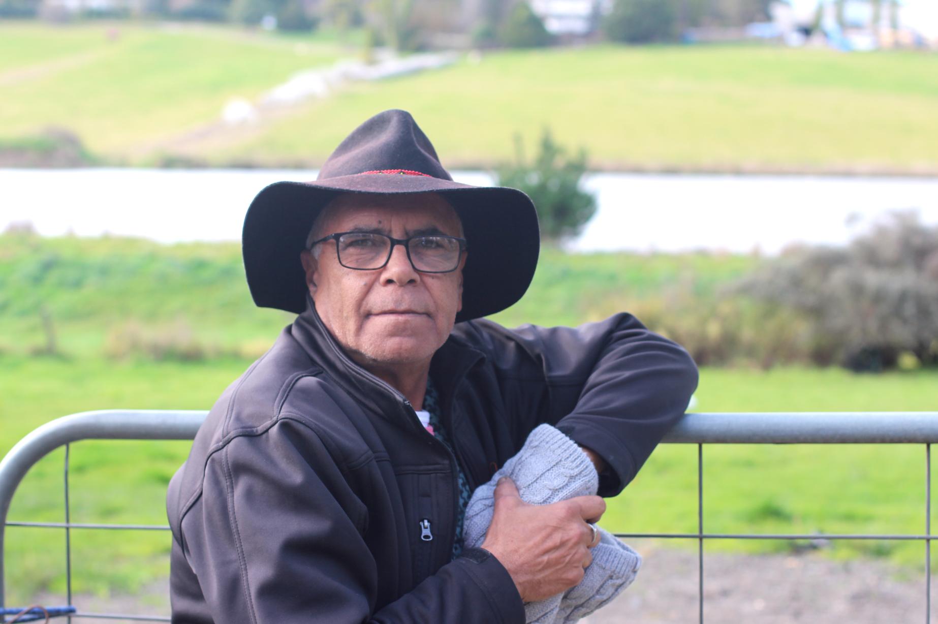 Shane Charles at Coranderrk. July 2021 Photograph by Gabby Harcourt