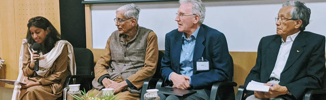 "Evening panel dicussion at ""Towards a Humane World' conference - Asia Plateau, India 7-11 Feb 2020"