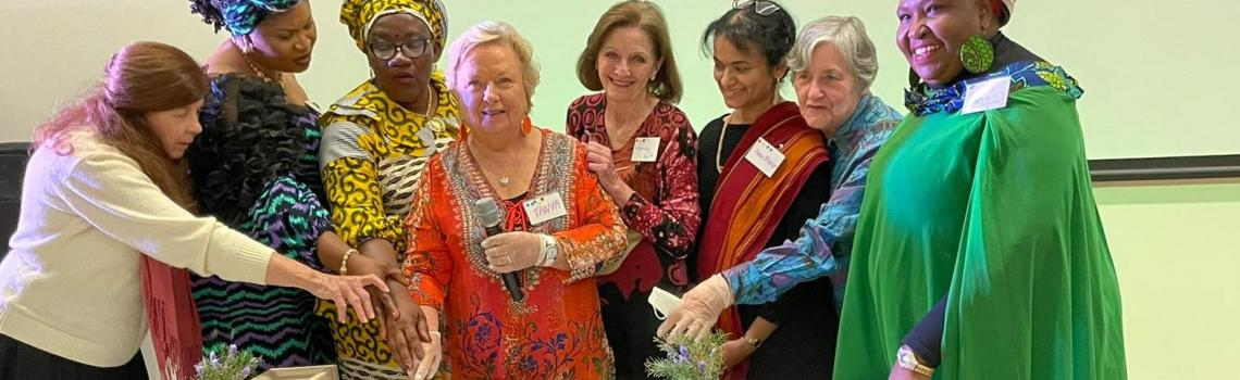 Creators of Peace women host a reunion of women from 'Rosemary's Way' film, one year later.