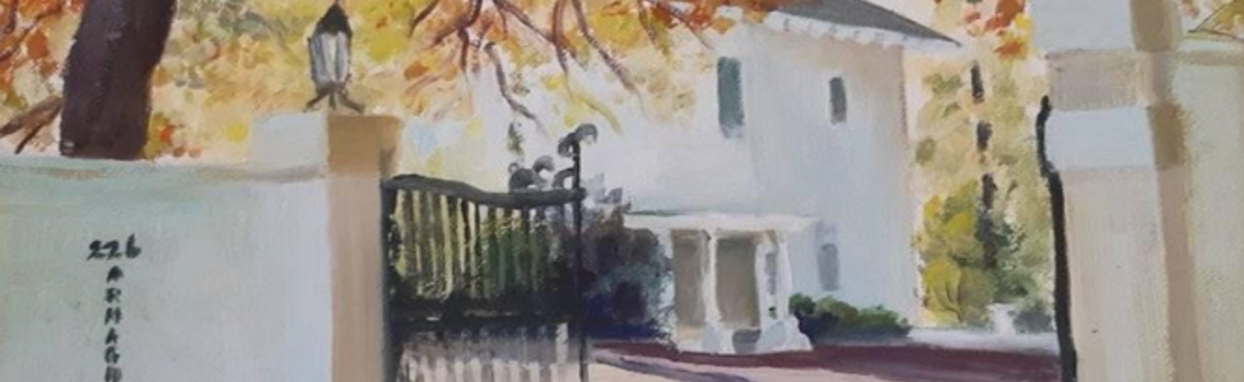Painting by David Lancaster. Photo courtesy of Jean and Maya Fiaux