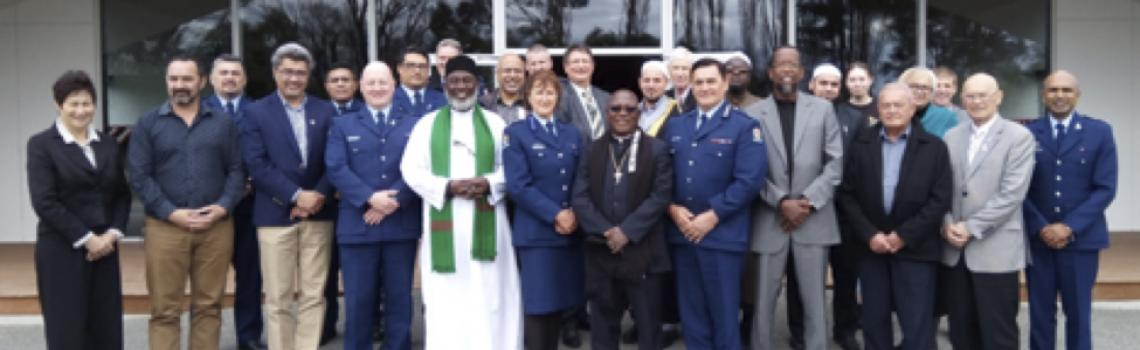 Ngai Tahu Marae, Kaiapoi: Imam Dr Mohammed Ashafa and Pastor Dr James Wuye meet with leaders from the Maori, Police, and Islamic community