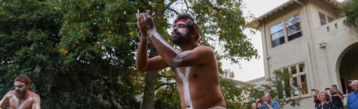 Indigenous dancer at Armagh