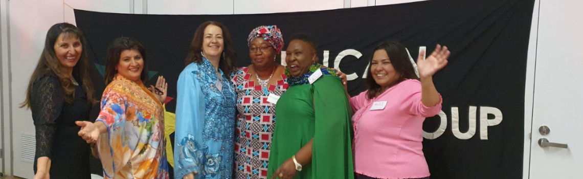 Rosmary Kariuki (2nd from R) with participants at the cultural exchange reunion, Sydney, May 2021 Pic provided by Tanya Fox