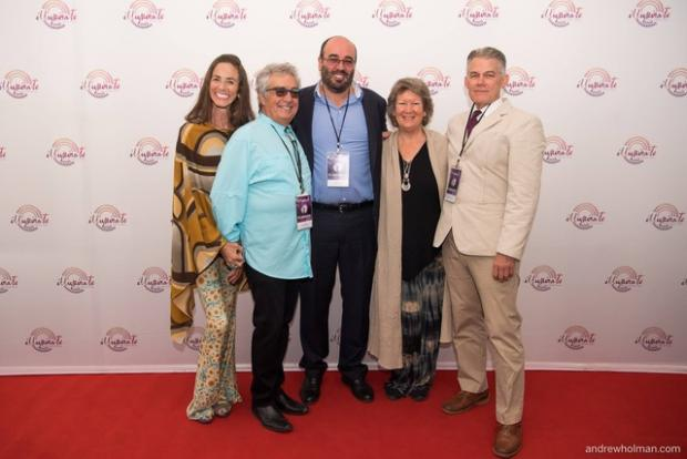 From Right: Kelly Burks, film producer; Sharon Foster, Illuminate Programme Consultant; Imad Karam, film director; Jay Stinnett, cast member; and Adell Shay.