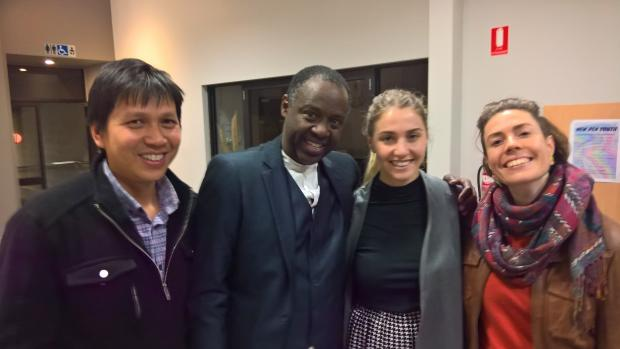 Jean-Paul Samputu with friends from Initiatives of Change Australia (Photo by Rob Wood)
