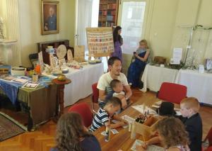 Indoor activities for young visitors at Armagh Market Day