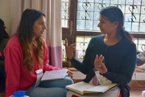 Meena Sharma (R) at a CoP facilitator training in Nepal - March 2017