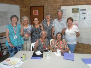 U3A participants, with Beth Fuller (standing, third from left).