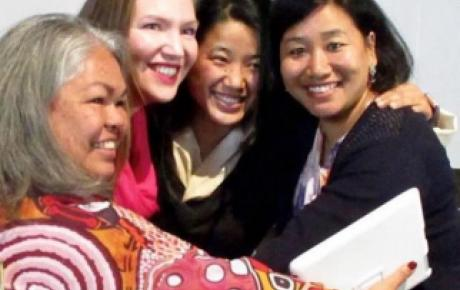 L-R: Susan Moylan-Coombs (Australia), Victoria Vdovychenko (Ukraine), Lhagyari Namgyal Dolkar (Tibetan government-in-exile) and Peno Hiekha (Nagaland)