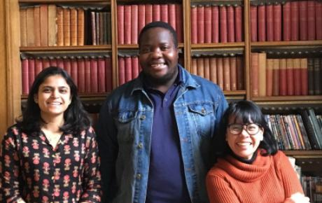 PeopleCraft partners in Melbourne. L-R: Abidha Niphade from India, Tinotenda Mhungu from Zimbabwe and Dahlia Rera O from Indonesia.