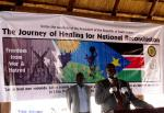 H.E. Dr Riek Machar, Vice President of South Sudan, speaking at the launch of the training for 200 Peace and Reconciliation Mobilizers in Juba (Photo: Francis Evans)